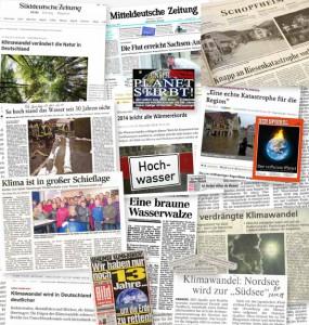 Presseschau zum Klimawandel in Deutschland
